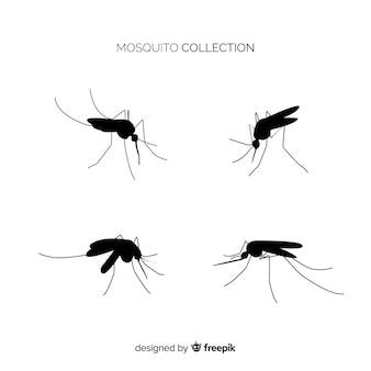 Coleção de silhueta de mosquito