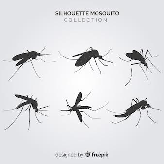 Coleção de silhueta mosquito criativo