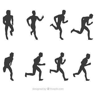 Coleção de silhuetas runner