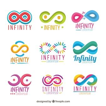 Coleção de símbolo colorido infinito