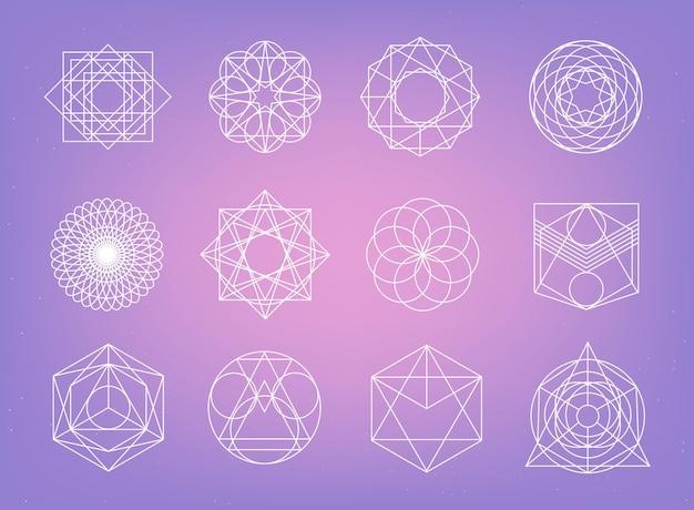 Coleção de símbolos de geometria sagrada