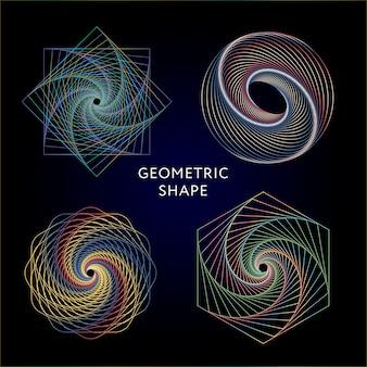 Coleção de símbolos de geometria
