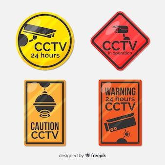 Coleção de sinal de cftv