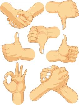 Coleção de sinal de mão - gestos de negócios