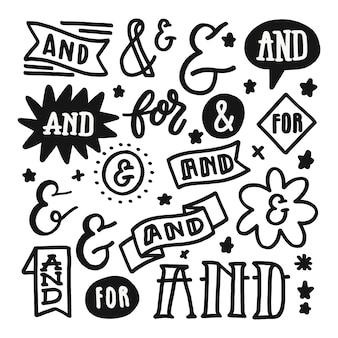 Coleção de slogans e e comercial