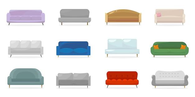 Coleção de sofás contemporâneos