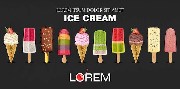 Coleção de sorvete