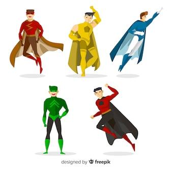 Coleção de super-herói em quadrinhos masculino