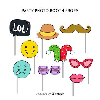Coleção de suporte de cabine de foto de festa