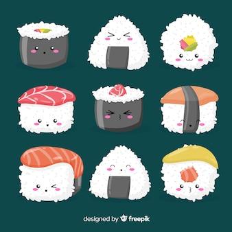 Coleção de sushi kawaii
