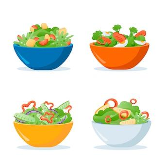Coleção de taças e saladas