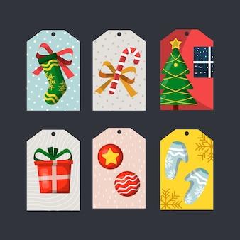 Coleção de tag de natal
