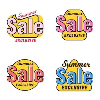 Coleção de tag exclusiva de venda de verão