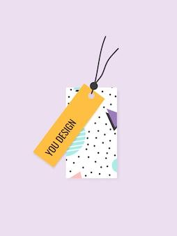 Coleção de tags de padrão de memphis