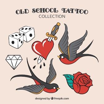 Coleção de tatuagem da velha escola