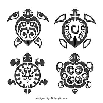 Coleção de tatuagem de tartaruga