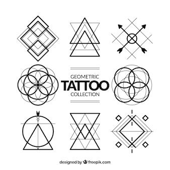 Coleção de tatuagens de símbolos geométricos