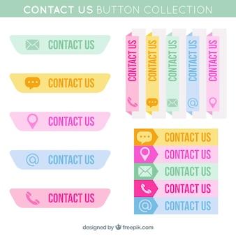 Coleção de teclas de contato coloridas