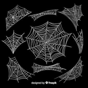Coleção de teia de aranha de halloween