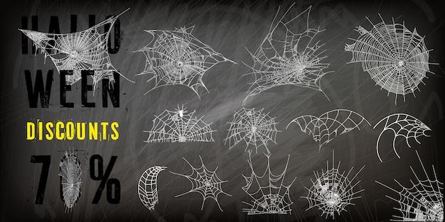 Coleção de teia de aranha