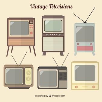Coleção de televisões do vintage