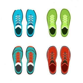 Coleção de tênis colorido