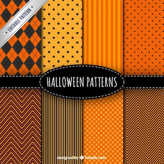 Coleção de testes padrões do dia das bruxas