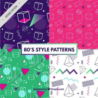 Coleção de testes padrões fantásticos com figuras geométricas