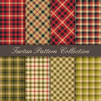 Coleção de textura de tartan padrão sem emenda