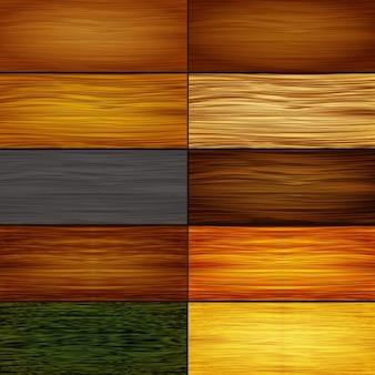 Coleção de texturas de madeira