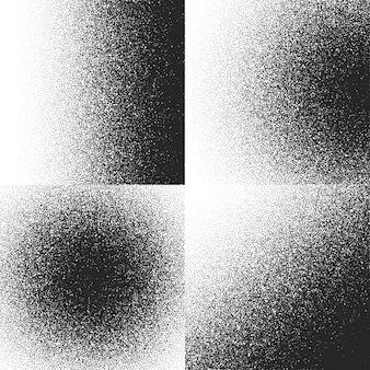 Coleção de texturas de meio-tom