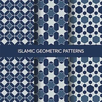 Coleção de texturas de padrões sem emenda islâmica vibrante