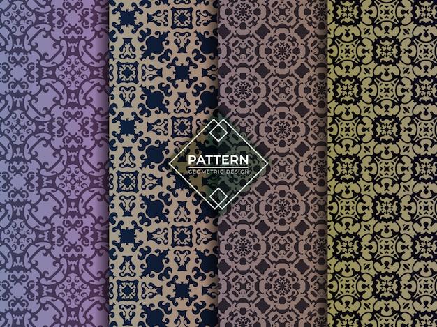 Coleção de texturas padrões geométricos islâmicos sem emenda