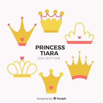 Coleção de tiara princesa plana