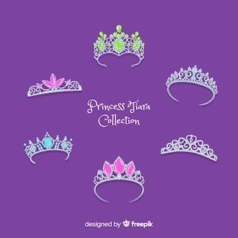 Coleção de tiara princesa prata