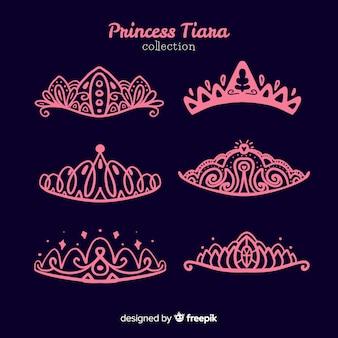 Coleção de tiara princesa rosa