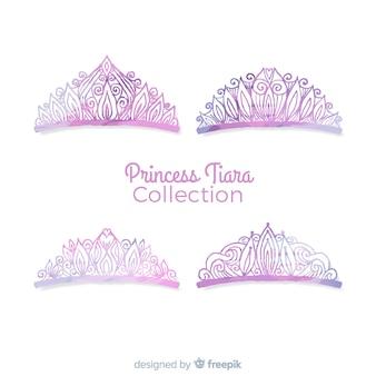 Coleção de tiara princesa roxa