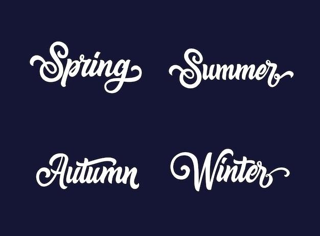 Coleção de tipografia seasons