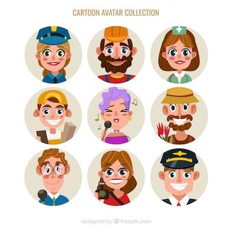 Coleção de trabalho de avatar