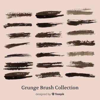 Coleção de traçado de pincel grunge