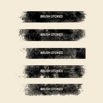 Coleção de traçados de pincel grunge