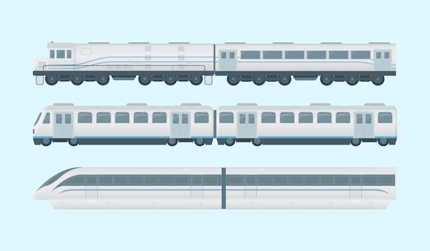Coleção de trem moderno