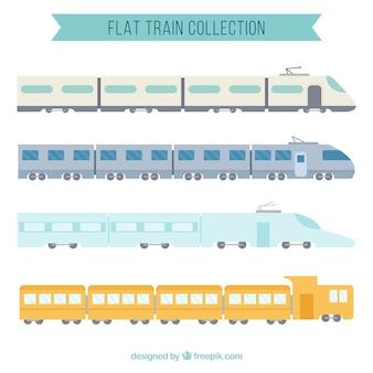 Coleção de trem plano