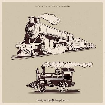 Coleção de trem vintage