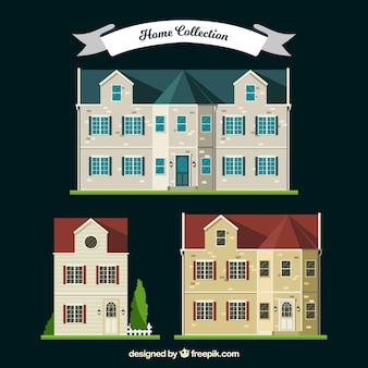 Coleção de três luxuosas mansões