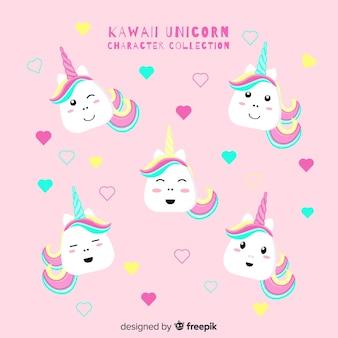 Coleção de unicórnio kawaii