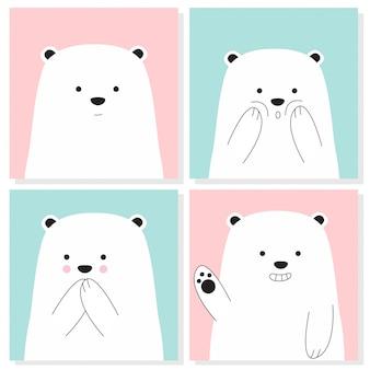 Coleção de urso bebê fofo
