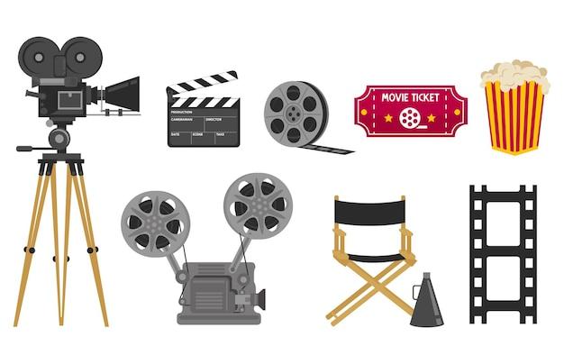 Coleção de várias necessidades ao fazer um filme