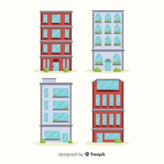Coleção de vários edifícios de escritórios