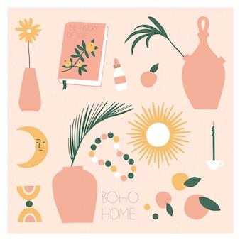 Coleção de vasos boêmios e decoração moderna para casa.
